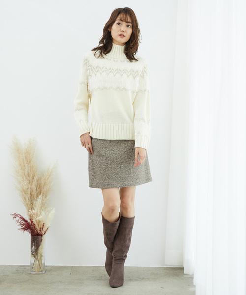 [ROPE' PICNIC] ブークレー台形ミニスカート