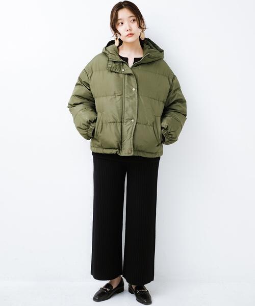 [haco!] 軽くてあったか!そのうえ短め丈でバランスよく見える中綿コート by ZAMPA