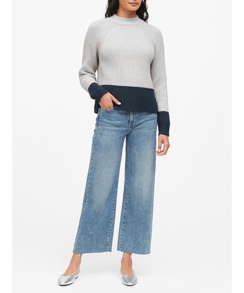 [BANANA REPUBLIC] チャンキー カラーブロックセーター