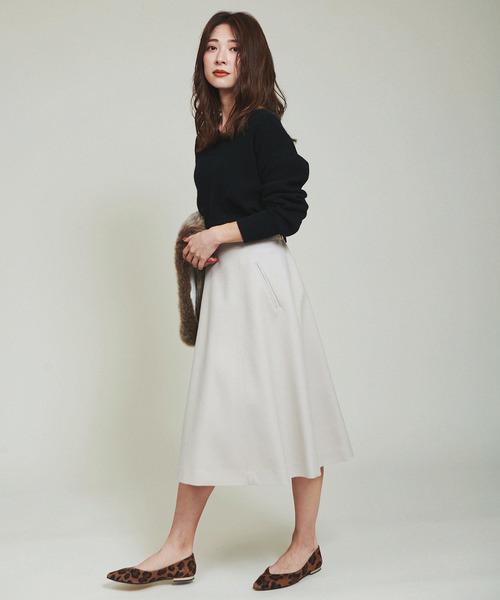 [The Virgnia] サキソニーフレアスカート
