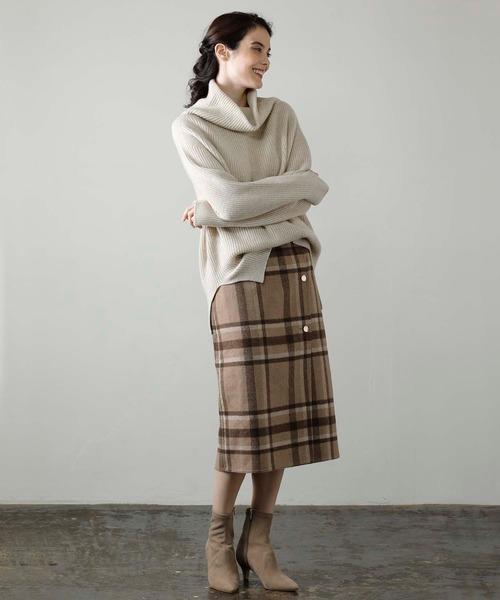 [OUVRAGE CLASSE] チェックリバーシブルスカート