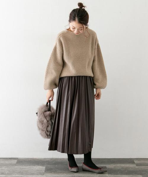 [URBAN RESEARCH ROSSO WOMEN] 合皮プリーツスカート