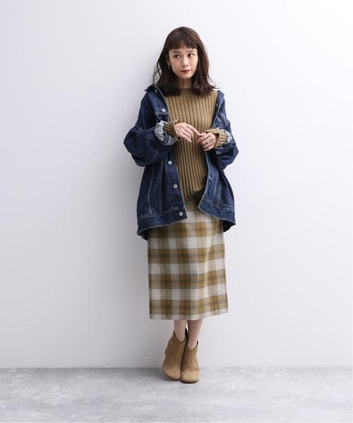 [JOURNAL STANDARD] ウールレーヨンタイトスカート