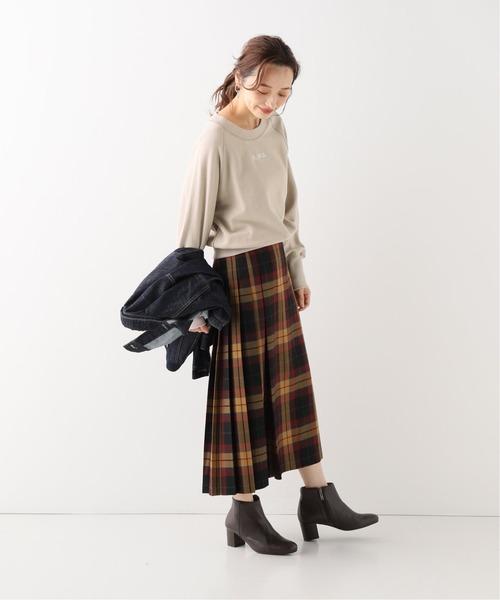 [IENA] ロゴ刺繍裏毛プルオーバー◆