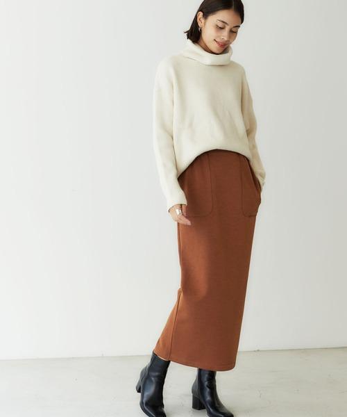 [BASEMENT online] 裏起毛タイトロングスカート