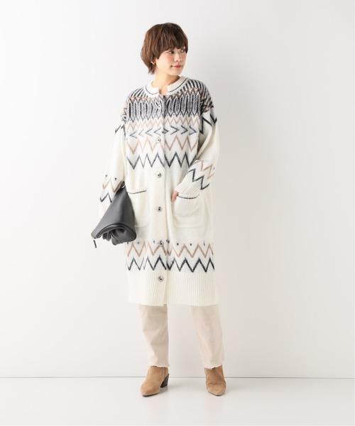 [Spick & Span] 【+81BRANCA】Nordic knit cardigan / ノルディックニットカーディガン◆