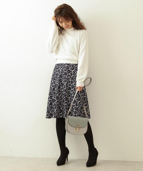 [PROPORTION BODY DRESSING] ラメモールジャガードフレアスカート