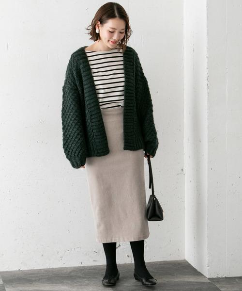 [URBAN RESEARCH ROSSO WOMEN] 【WEB/ルミネ店舗先行販売】ニットコールスカート