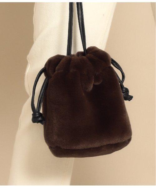 [CHILLE] ファー巾着バッグ