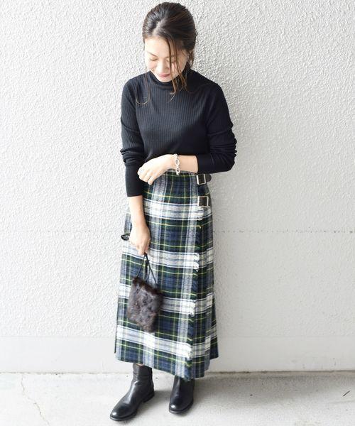 スカート×ショートブーツ4