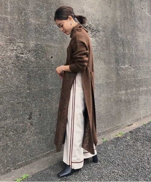 [Ameri VINTAGE] UNDRESSED SYNTHETIC LEATHER LINE PANTS