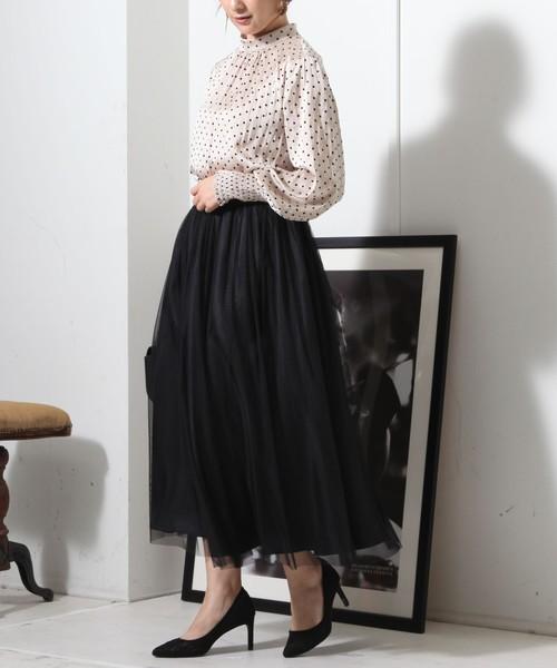 [TIARA] チュールギャザースカート