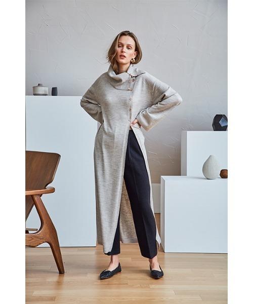 [KONVINI] 【Maison de Ines 】ローリングスリット ロング セーター