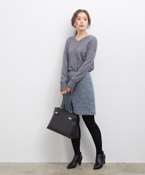 [ROPE' PICNIC] ファンシーツイードスカート