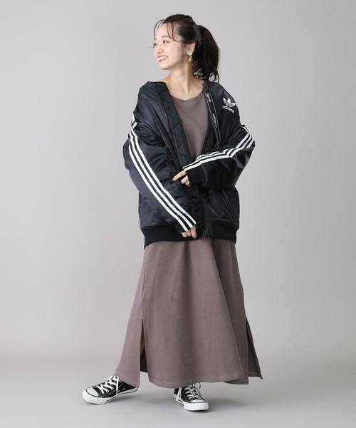 [FREAK'S STORE] adidas/アディダス LONG BOMBER JACKET/ロング ボンバージャケット(中綿ブルゾン、オーバーサイズ)