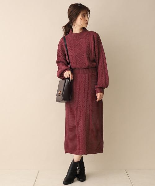 [one after another NICE CLAUP] 【ZOZO限定】ケーブルニットセットアップ