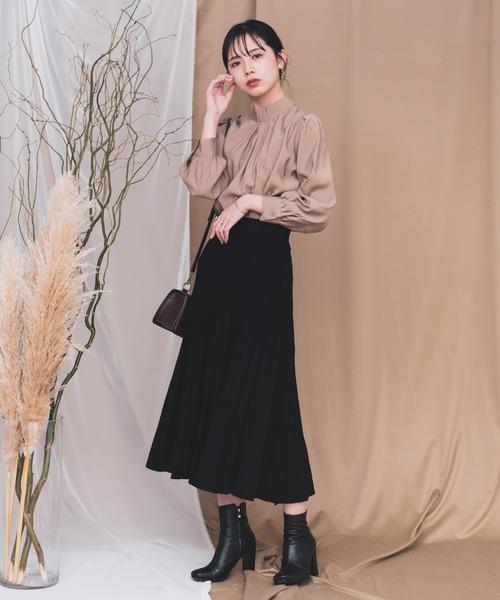[YARD PLUS/AUNT MARIE'S] AUNT MARIE'S ニットプリーツスカート