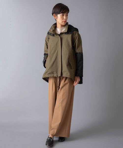 [miniyu] LaSRIC/2WAYフリースライナー付バイカラーコート