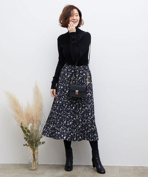 [ROPE' PICNIC] スノーフラワープリーツスカート