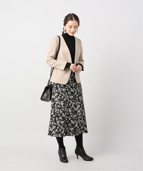 [La TOTALITE] レトロフラワープリントスカート