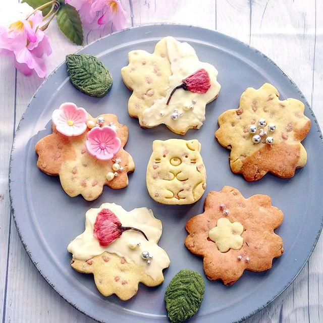 一足お先レシピに!桜チョコチップクッキー