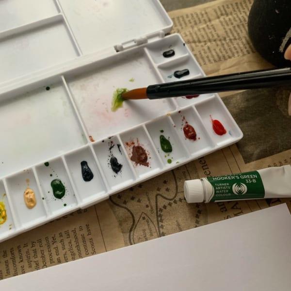水彩絵の具で遊んでみよう!2