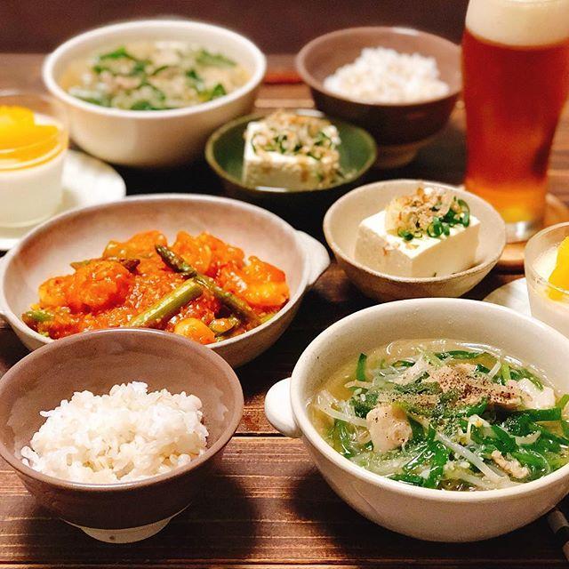 親子丼に料理に!豚バラのネギ塩付け合わせスープ