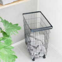 毎日のお洗濯をもっと快適に♪シンプルでスリムな「ランドリーバスケット」