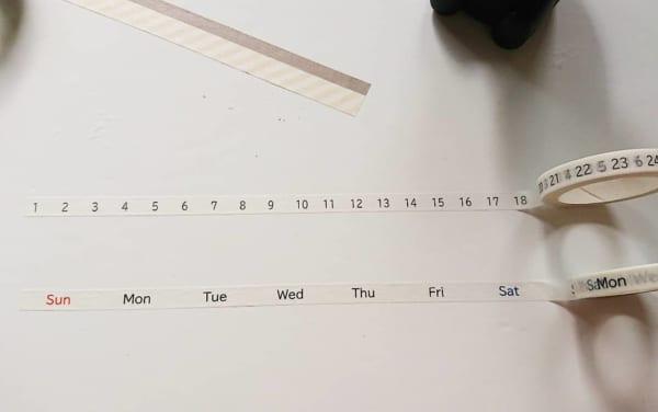 スケジュール帳が作れる100均の文房具