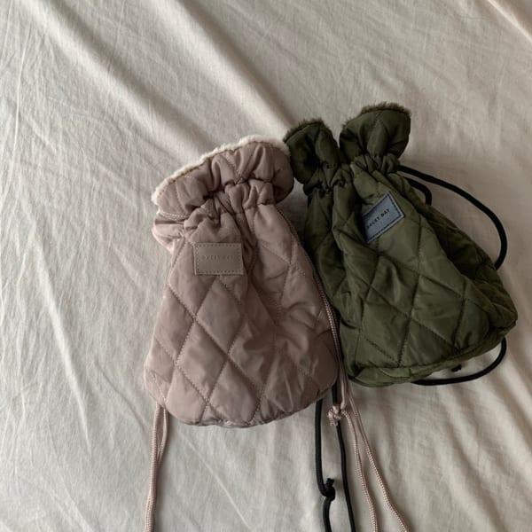 キルティングファー巾着バッグ2