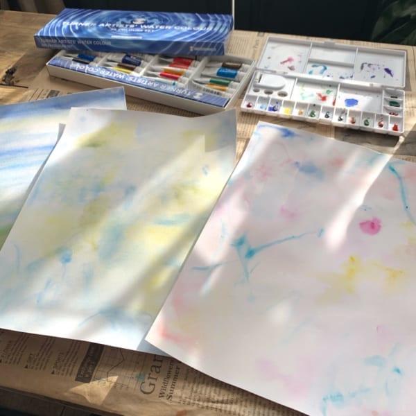 水彩絵の具で遊んでみよう!6