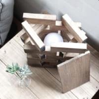 【連載】簡単!《ダイソー》の小さな木材で作るシーリングライト