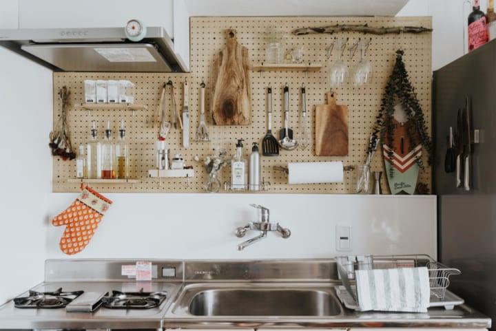 壁面収納が美しい二人暮らしの収納