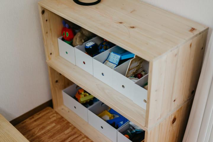 木箱を使ったおしゃれな収納実例18