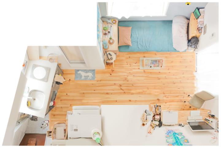 一人暮らし1R5畳のレイアウトアイデア