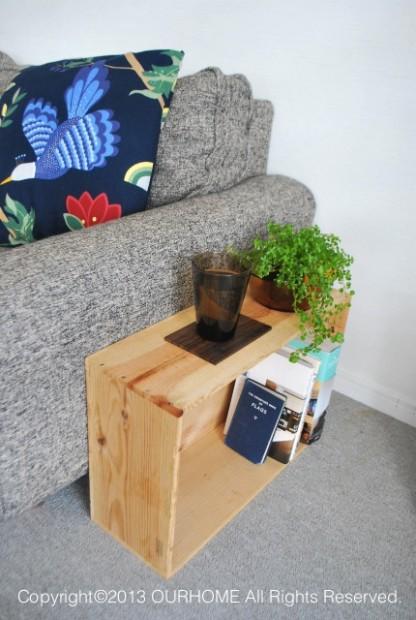 木箱を使ったおしゃれな収納実例3