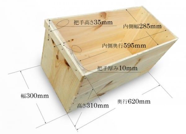 木箱を使ったおしゃれな収納実例6