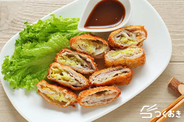 冷凍可能な主菜レシピ!キャベツとんかつ