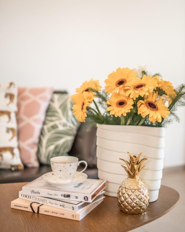 黄色いお花 インテリア風水4