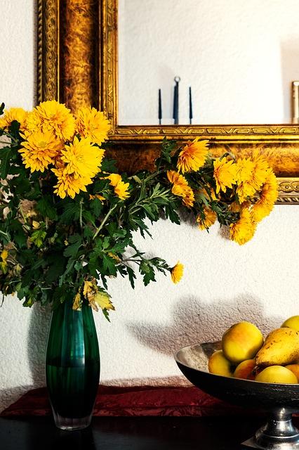 黄色いお花 インテリア風水8