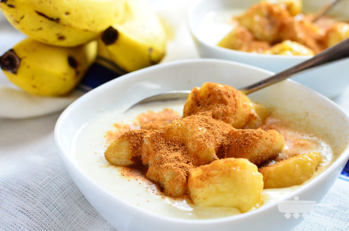 美味しい朝食の料理に!ほっとバナナヨーグルト