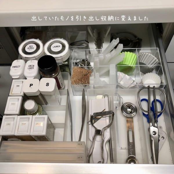 キッチン小物の収納に