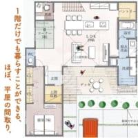 1階だけでも暮らすことができる、ほぼ、平屋の間取り。