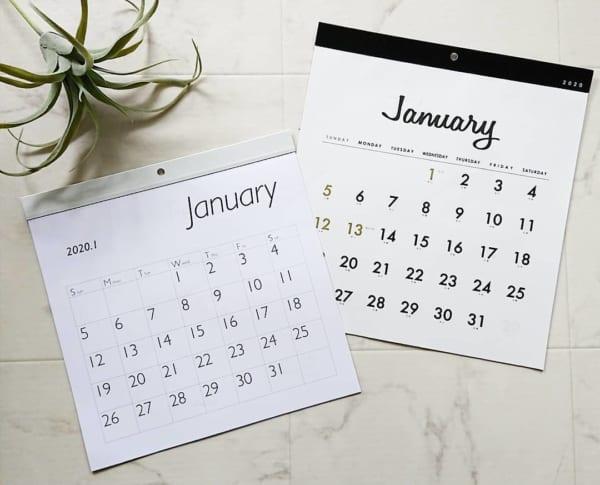 セリア カレンダー 2020