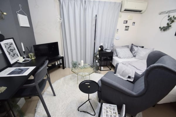 正方形 7畳部屋 レイアウト 家具の配置