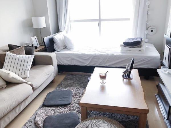 正方形 7畳部屋 レイアウト 家具の配置2