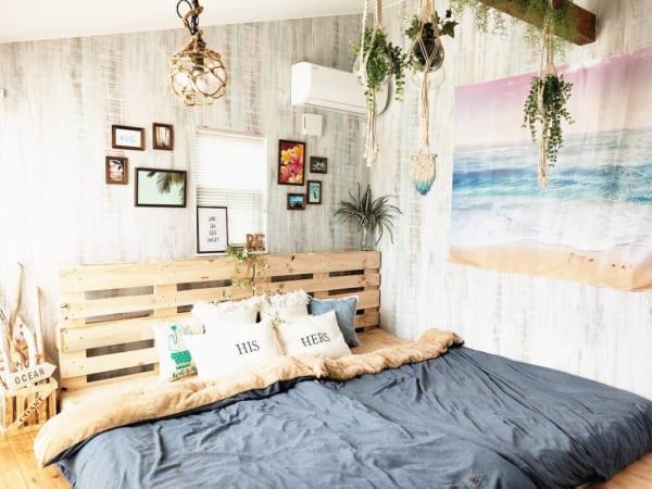 パレットベッドで海辺リゾートコーディネート