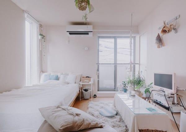 正方形 7畳部屋 レイアウト 家具の配置3