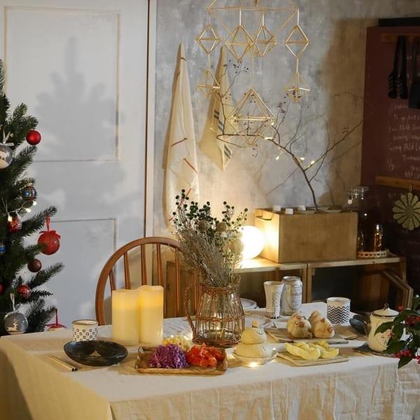 クリスマスのおしゃれなテーブルコーディネート