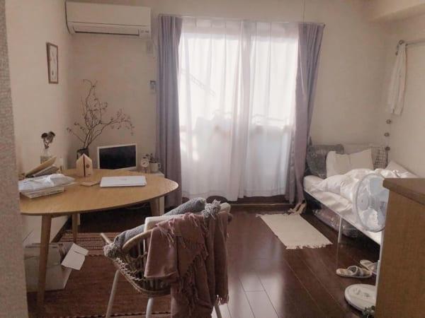 正方形 7畳部屋 レイアウト 家具の配置4